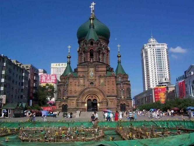 哈尔滨索非亚教堂景区 黑龙江 4A 全国(东北地区)AAAA景区一览表,国庆出游就去这里。